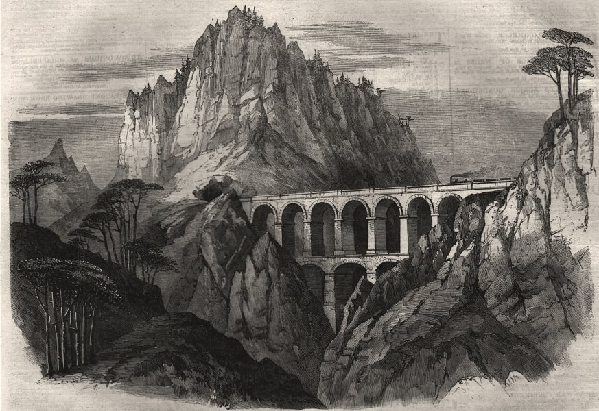 Associate Product The Great Semmering Railway. The Bollerswand viaduct and tunnel. Austria, 1860