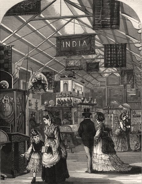 Associate Product The International Exhibition: the Indian court. London, antique print, 1871