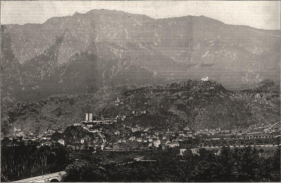 Associate Product Bellinzona, the capital of the Swiss Italian canton of Ticino. Switzerland, 1890