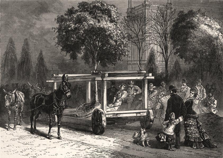 Associate Product American Centennial Exhibition at Philadelphia. Transplanting trees, print, 1876