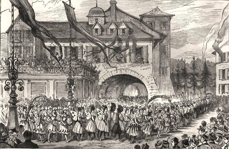 Associate Product 700th anniversary of the city of Berne: schoolchildren parade. Switzerland, 1891