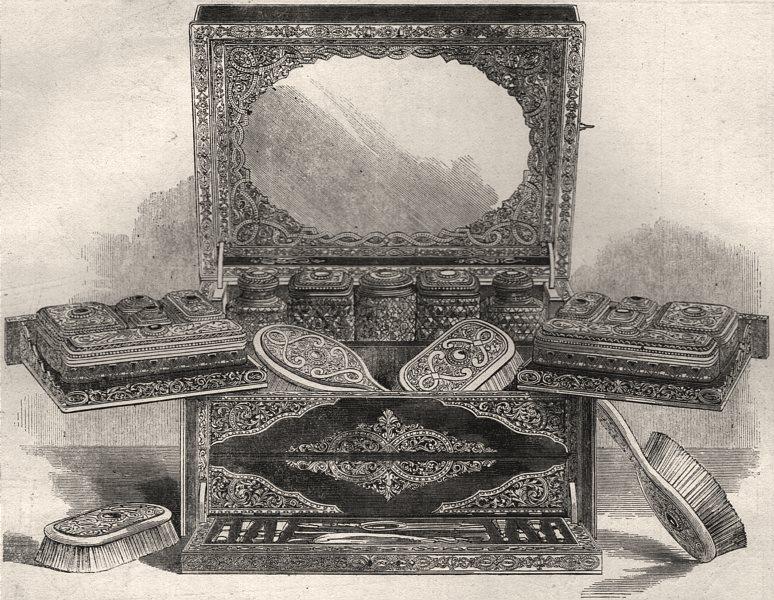 Associate Product International Exhibition. Dressing case by Howell James & Co Regent Street, 1862