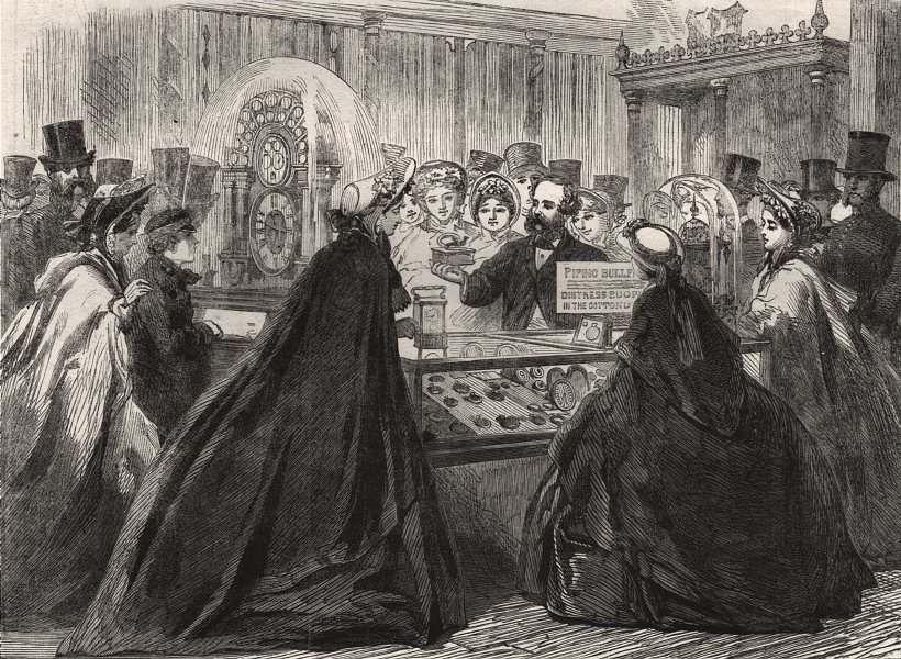 Associate Product The International Exhibition. Piping bullfinch in the Swiss Court. London, 1862