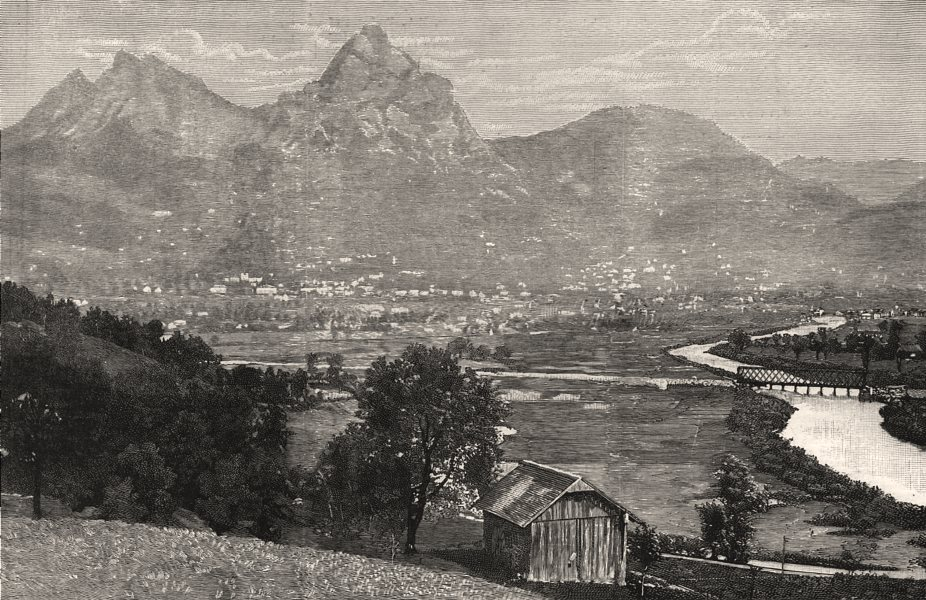 Associate Product The valley & town of Schwyz, birthplace of the Swiss Confederation, 1291, 1891