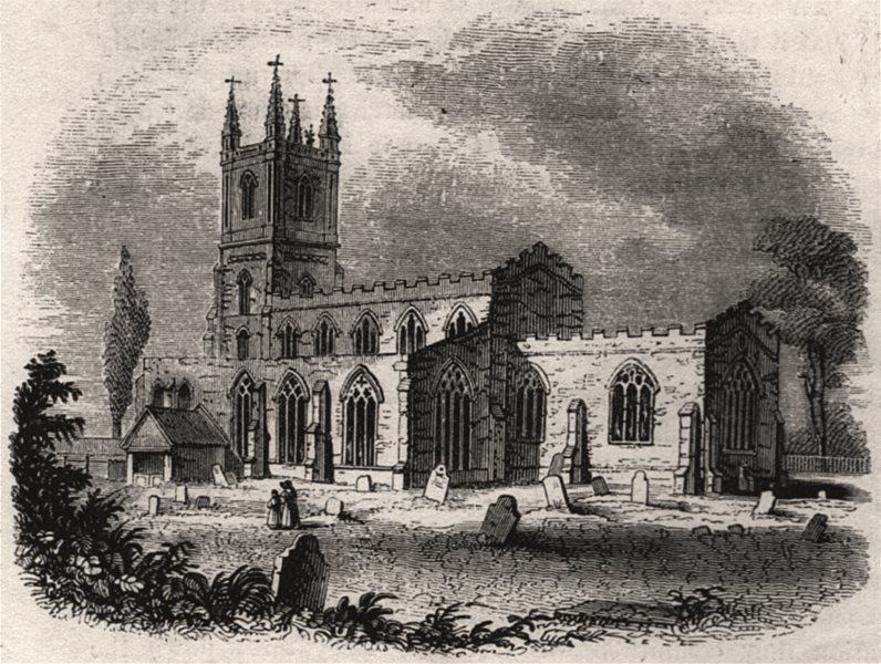 Associate Product 1049 - Lutterworth Church. Wickliffe's rectory. Leicestershire. SMALL, 1845