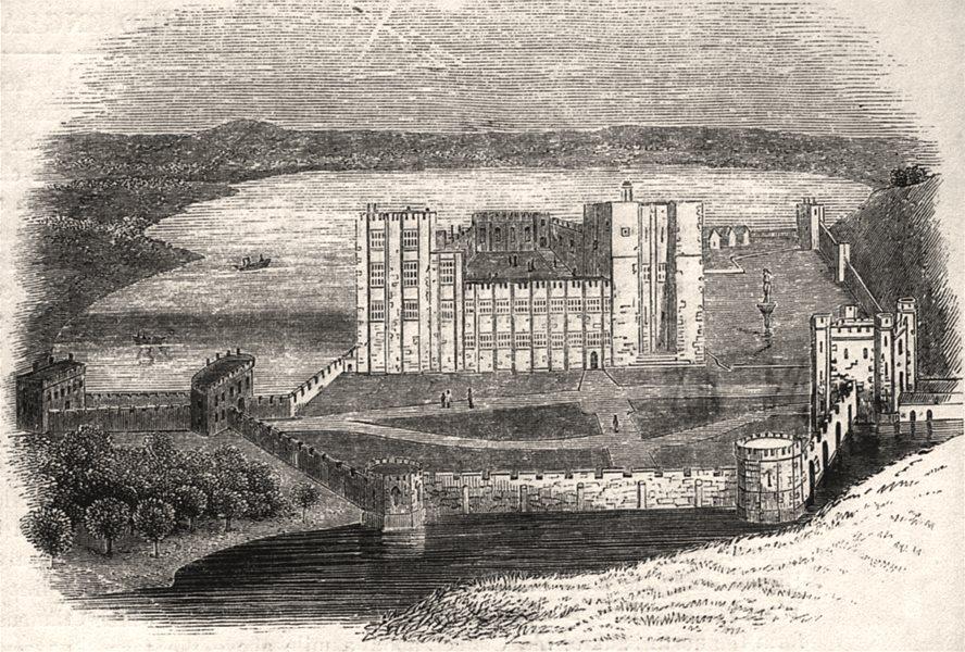 Associate Product 430 - Kenilworth castle in 1620. Warwickshire, antique print, 1845