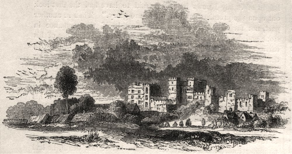 Associate Product 818 - Ruins of Kenilworth in the 17th century. Warwickshire. SMALL, print, 1845
