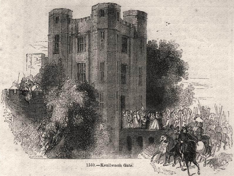 Associate Product 1540 - Kenilworth gate. Warwickshire, antique print, 1845
