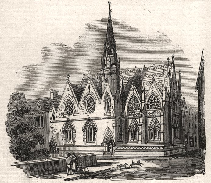 Associate Product New Baptist chapel of St. Michael, Coventry. Warwickshire. SMALL, print, 1856