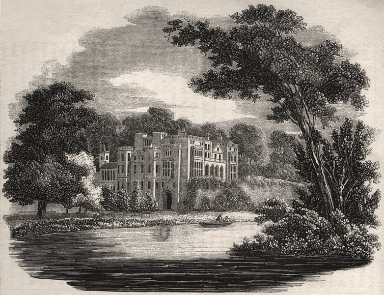 Associate Product 2333 - Guy's Cliffe, Warwickshire, antique print, 1845