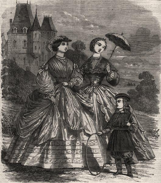 Associate Product The Paris fashion for June, antique print, 1860