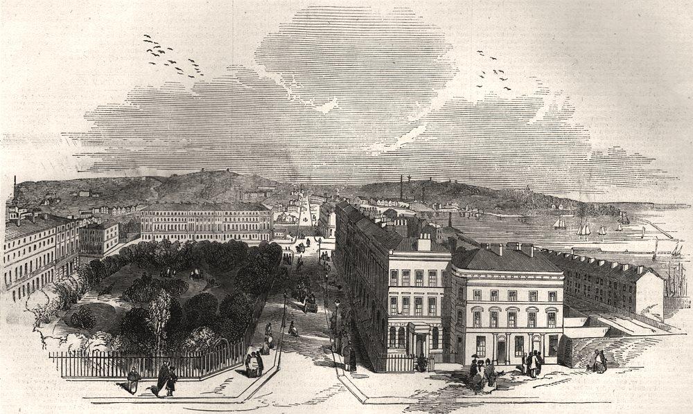 Associate Product Opening of the Birkenhead Docks & Park. Bird's-eye view of Birkenhead, 1847