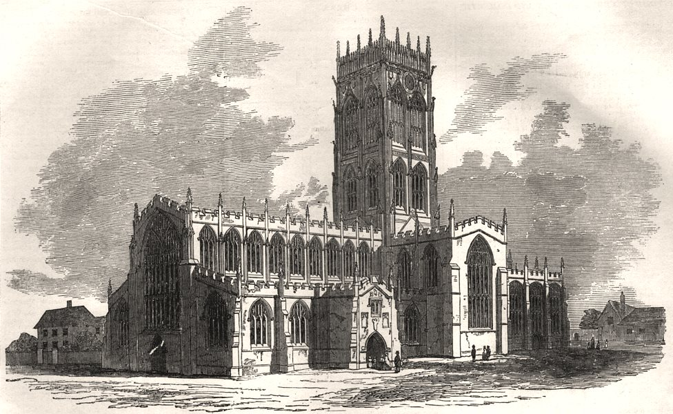 Associate Product St. George's Church, Doncaster, recently destroyed by fire. Yorkshire, 1853