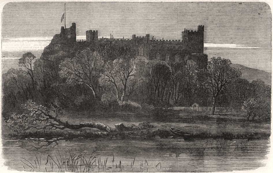 Associate Product Arundel Castle, Sussex, the seat of the Duke Of Norfolk, antique print, 1858
