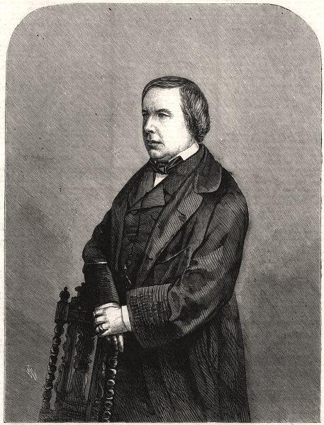 Associate Product Count de Montalembert. Deux-Sèvres, antique print, 1858