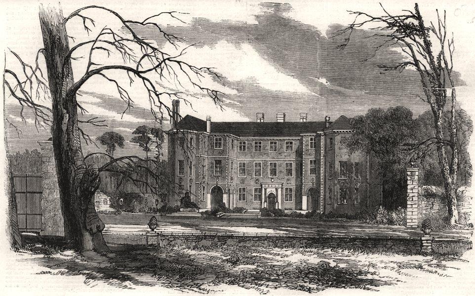 Associate Product Ham House, in Surrey. London, antique print, 1858
