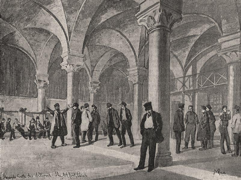 Associate Product Grande salle des détenus. Paris, antique print, 1894