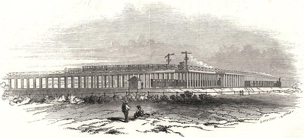 Associate Product Samuda's Croydon Atmospheric Railway viaduct. Dover Brighton Line. Norwood, 1845