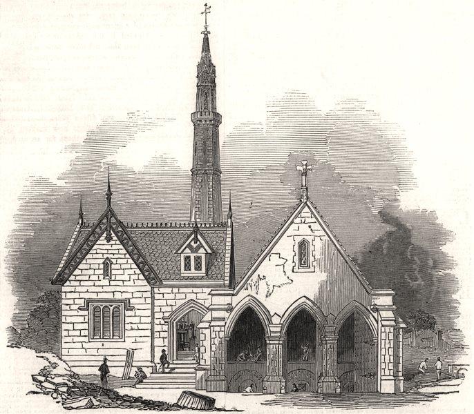 Associate Product Samuda's Atmospheric Railway: Engine-house, at Croydon. London, old print, 1845
