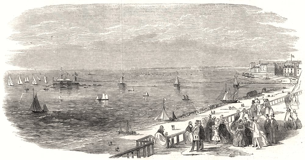 Associate Product The Brighton Regatta - the start for the Shipowners' Prize. Sussex, print, 1853