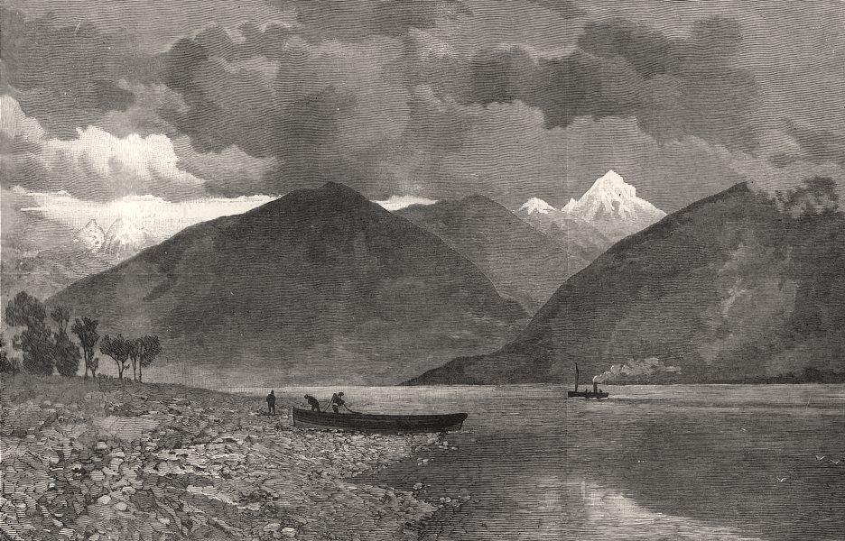 Associate Product British Columbia: The Kootenay Lake. Canada, antique print, 1887