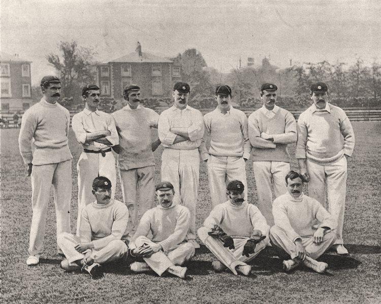Associate Product Surrey cricket team. W. Lockwood, R. Abel, H. Wood, W. Brockwell, print, 1894