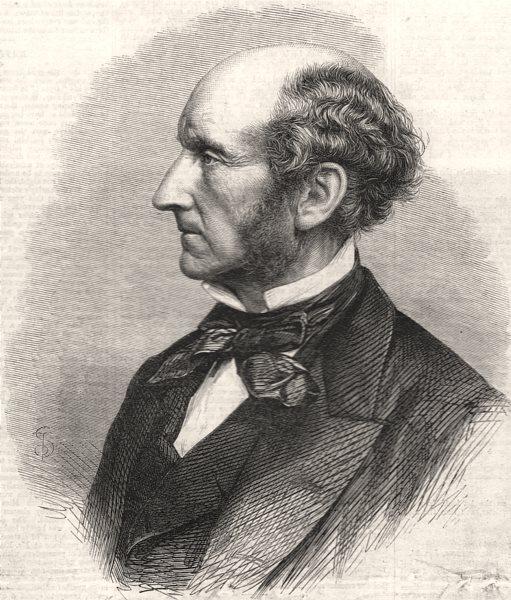 Associate Product Mr. John Stuart Mill MP. Philosophy. Civil Service. Political economist, 1866