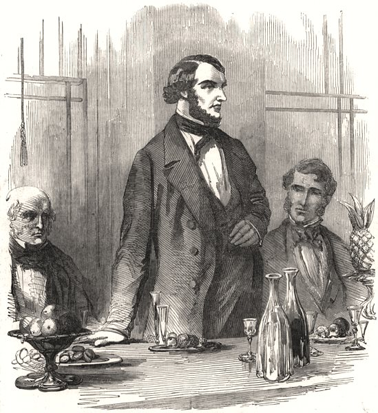 Associate Product The Right Hon. W. E. Gladstone, MP. Chancellor of the Exchequer. UK, print, 1853