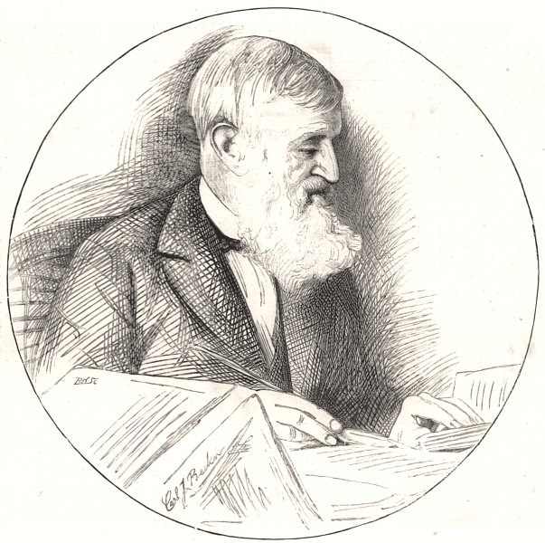 """Associate Product Mr. George Bancroft, author of the """" History of the United States """", print, 1891"""