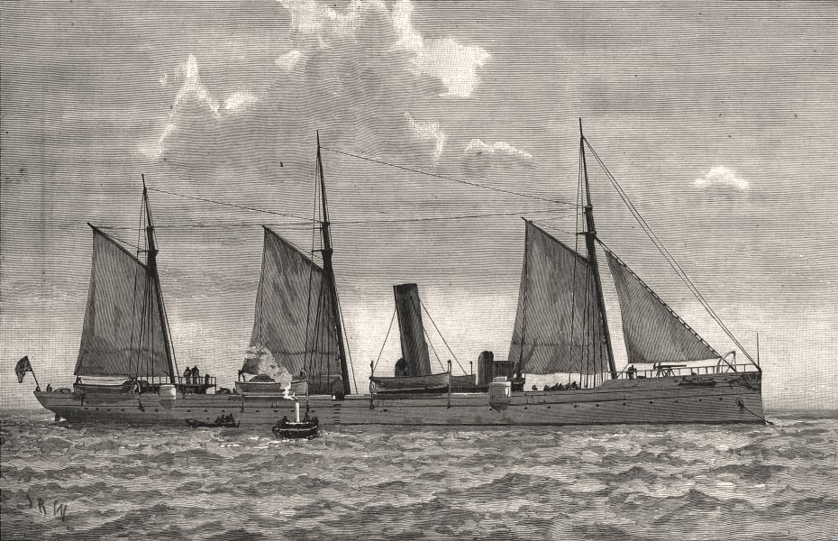 Associate Product The American Navy: dispatch-vessel Dolphin. USA, antique print, 1891