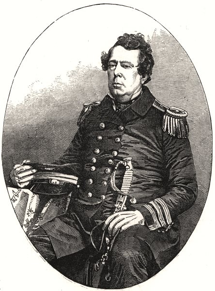 Associate Product Commodore Matthew Perry, Commander of the US expedition to Japan, print, 1853