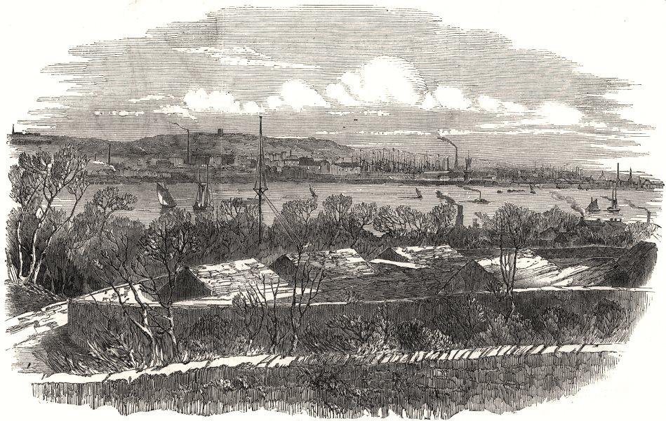 Associate Product The Liverpool Gunpowder Magazines, antique print, 1851