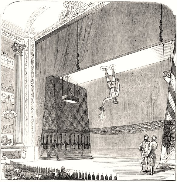 """Associate Product Feat of Mr. Sands the """" Air-Walker """", at Drury-Lane Theatre. London, print, 1853"""