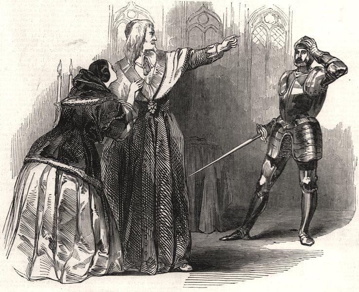 "Associate Product Mr. Macready as "" Richelieu "", at the Princess' theatre. London, old print, 1846"
