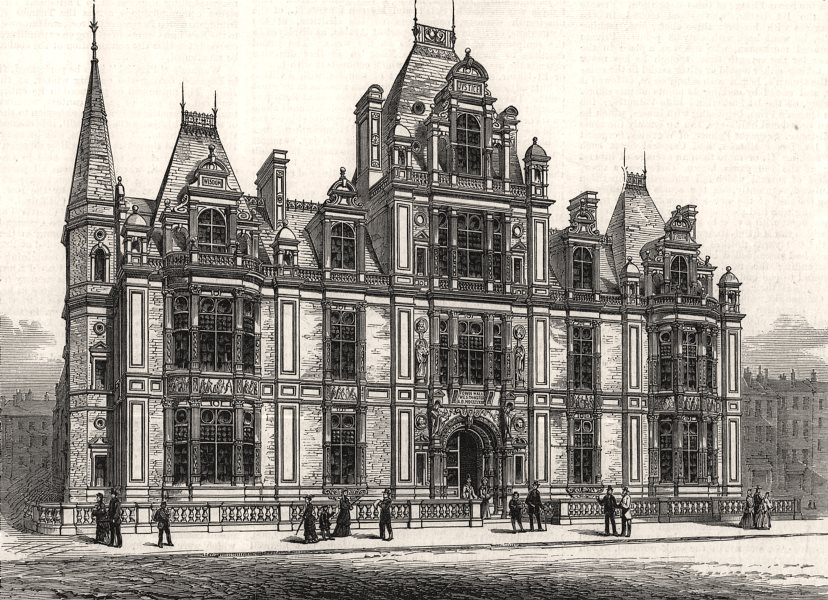 Associate Product Westminster Townhall opened by the Duke Of Buccleuch, High Steward. London, 1883