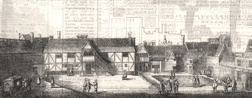 Associate Product The Strand: South view of Arundel House in 1646. London, antique print, 1854