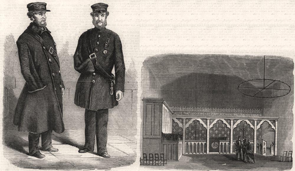 Associate Product Metropolitan commissionaires; Horseshoe Court chapel, Clare Market (LSE) , 1859