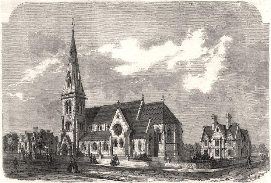 Associate Product St. Ann's church, parsonage & schools, Hanger Lane, Stamford Hill. London, 1861