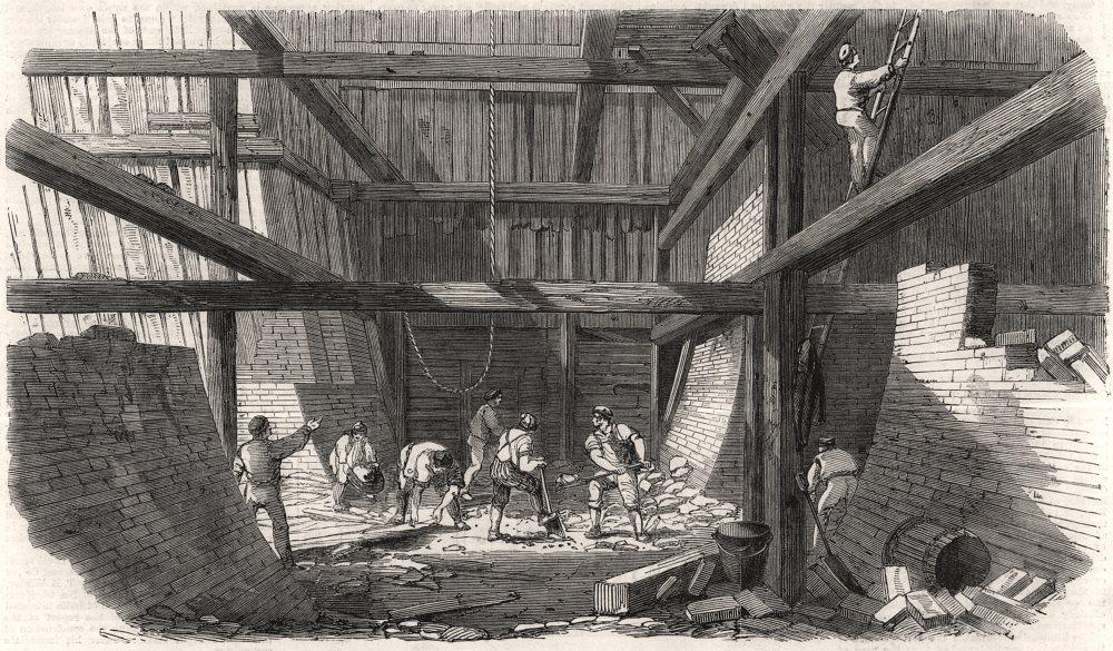 Associate Product Start of the Metropolitan line railway tunnel at King's Cross. Underground, 1860