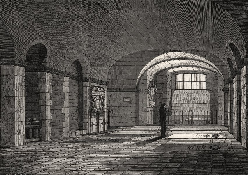 Associate Product Artists' Corner in the crypt of St. Paul's: Landseer's grave. London, 1860
