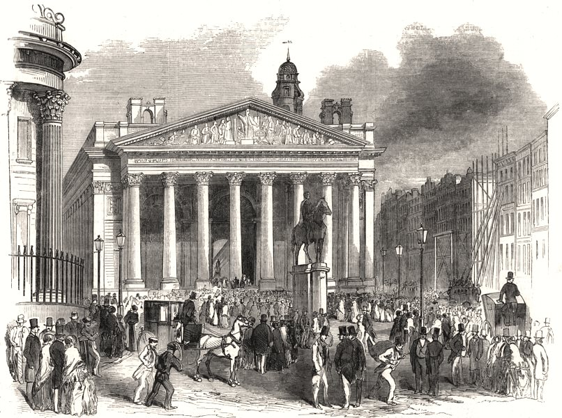 Associate Product Proclamation of war against Russia, at the Royal Exchange. London, print, 1854