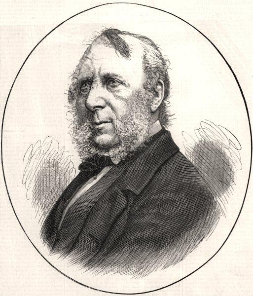 Associate Product The late Mr. George Cruikshank. Portraits, antique print, 1878