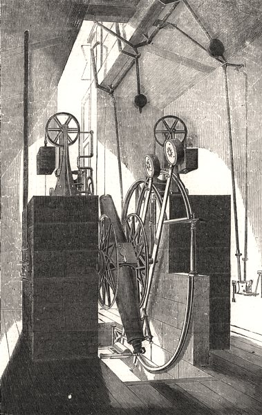Associate Product Transit instrument at the Cape Observatory. South Africa, antique print, 1857