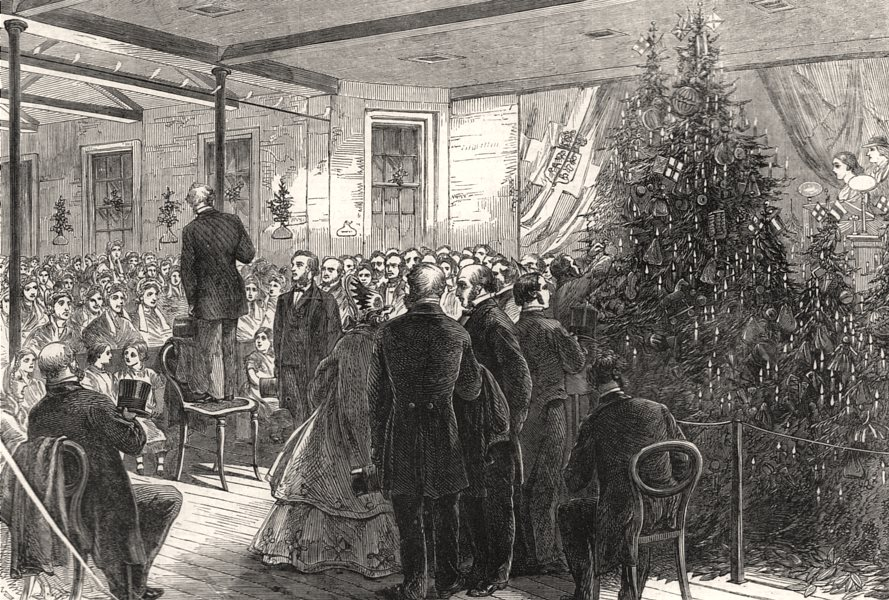 Associate Product Christmas entertainment to the Greenwich Union House inmates. London, 1864