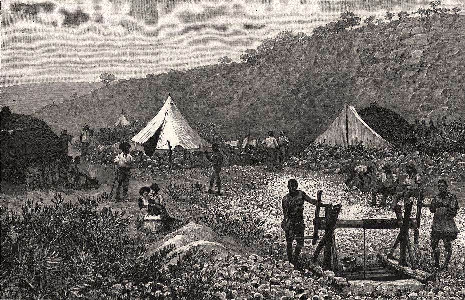 Associate Product De Kaap goldfields, Transvaal: Joe's Luck mine (Sheba Reef) . South Africa, 1887