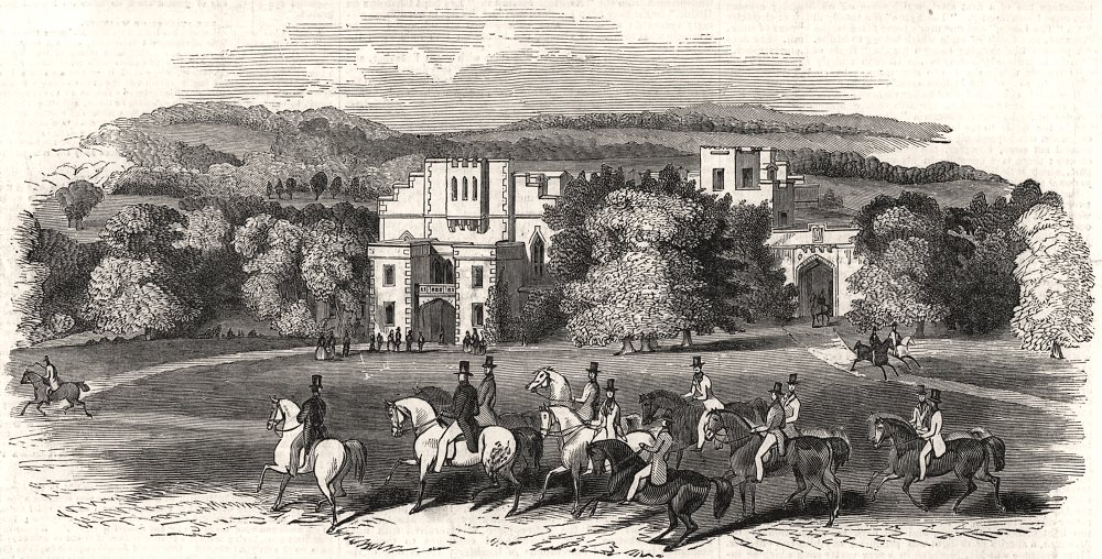 Associate Product The grand lawn & drive in front of Victoria Gate, Windsor Castle. Castles, 1844