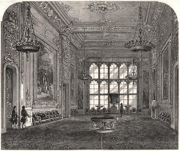 Associate Product Windsor Castle: The State Ball-room, Windsor Castle. Berkshire, old print, 1846
