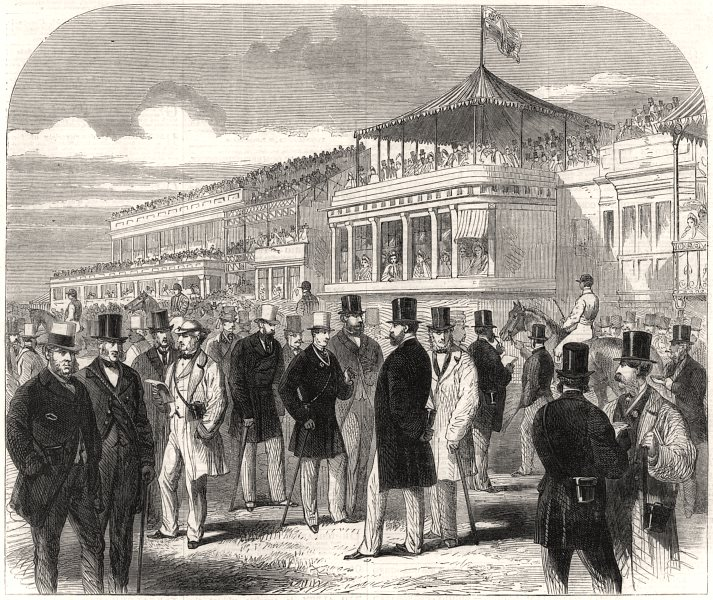 Associate Product The Prince and Princess Of Wales at Ascot races. Berkshire, antique print, 1863