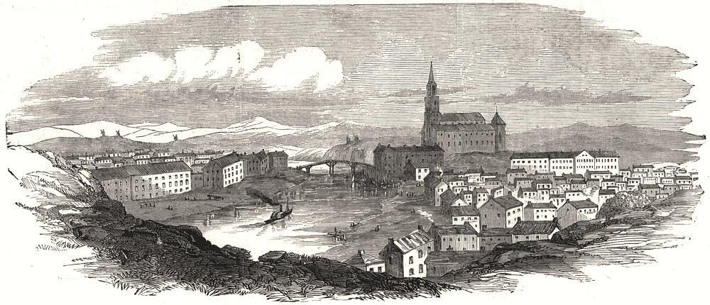 Associate Product Turku, from an original sketch. Finland, antique print, 1854