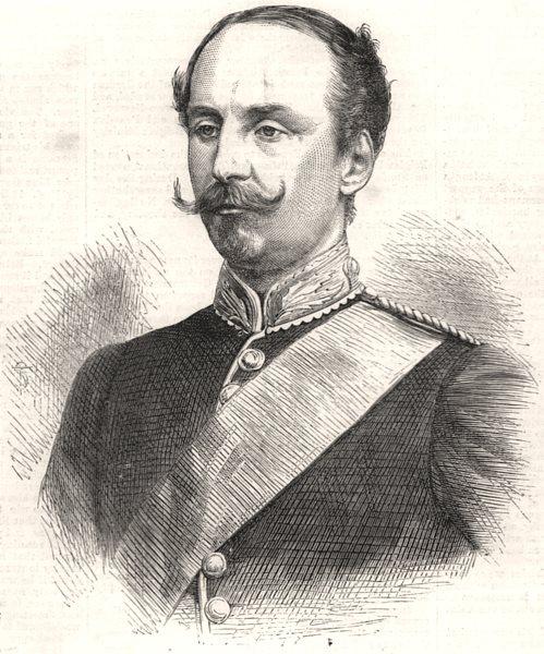 Associate Product The late Lieutenant-Colonel Pemberton. UK, antique print, 1870